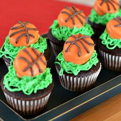 Blog post at Growing Up Gabel :    Mini basketball cupcakes are fun and easy to make! You won't believe what the basketball is made with!    One of our favorite time[..]