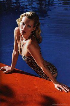 via Paper Blog    #leopard #cheetah #animal #print #bathingsuit #kate #moss #fashion #editorial