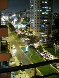 The night .... in the city of Lima, Peru.