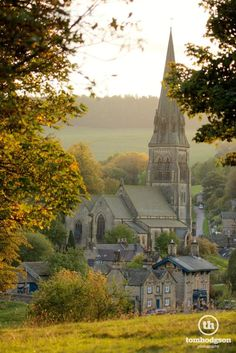 St. Peter's Church, Edensor on the Chatsworth estate, England