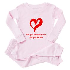51b8c5a71115a Red Heart Personalized Toddler Pink Pajamas on CafePress.com  ad