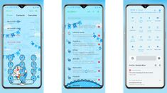 Diall pad, SMS, status bar Tema Doraemon OPPO Galaxy Wallpaper, Doraemon, Android, App, Apps