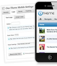#Premium WordPress Mobile Themes for iPhone