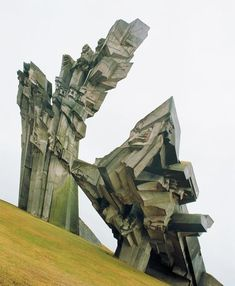 A Holocaust memorial constructed on the site of the Ninth Fort at Kaunas (Lithuania, In his book Cosmic Communist Constructions Photographed, Frédéric Chaubin documents 90 buildings in. Art Et Architecture, Amazing Architecture, Memorial Architecture, Photo Book, Uk And Ie Destinations, Brutalist Buildings, Frederic, Arquitetura, Museums