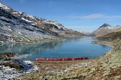 World Inside Pictures today take you in a virtual Photo tour of a train journey in the Swiss Alps.This train journey takes you along one of the most beautiful Chur, Glacier Express, Switzerland Tour, Bernina Express, Train Tour, Train Journey, All Nature, Swiss Alps, Europe Destinations