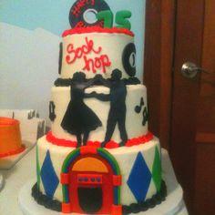 50's themed birthday cake  -TwentyOne Caked