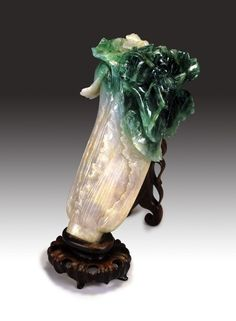 Jadeite Cabbage with Insect is the most important and famous collection in Taipei National Palace Museum