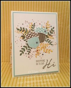 Stampin' in the Sand: Pinterest CASE: Acorny Hi. stampin up acorny thank you. acorn punch card