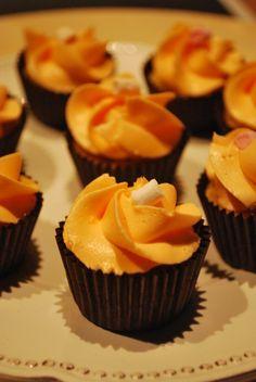 Mini cupcakes de chocolate y naranja