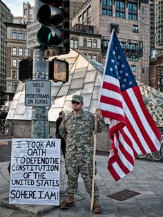 Exactly what I want my taxes to support: the US Marines defending my constitutional rights both here and abroad! Perfect!