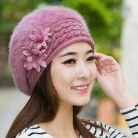 Wish   Fashion Accessories Winter Warm Elegance Hat Wool Cap Women Thickened Rabbit Fur Beanies Hat Beret Caps