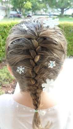 Frozen, Princess Elsa, Snowflake Hairpins, Hair, Braid, Costume, Accessory, Embelishment, Snow
