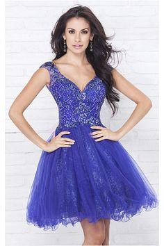 6adf549cb3 High Quality Cap Sleeves Zipper V-neck Short Party Dresses Mini Prom Dresses