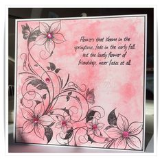 Using Honey Doo Crafts Flower and Butterfly corner stamp and Distress Paint Dabber background