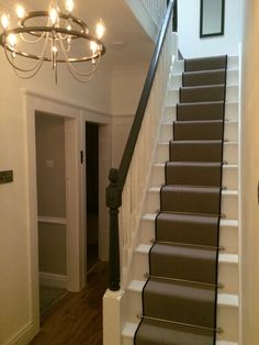 Carpet Stairs Runner With Rods