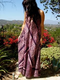 Eggplant Bohemian Summer Beauty sleeveless kaftan by Gold Dust Dresses. Gorgeous!