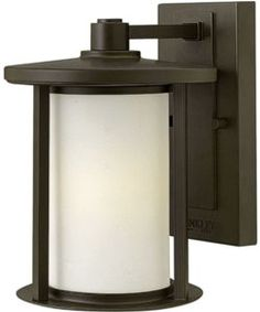View the Hudson 1-Light Small Outdoor Wall Light Oil Rubbed Bronze