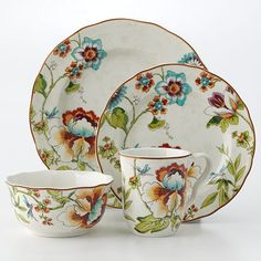 222 Fifth Bella Vista 16-piece dinnerware set... Kohls...
