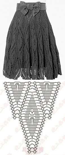 The scheme of classical skirts, knitted crochet own hands | Laboratory household