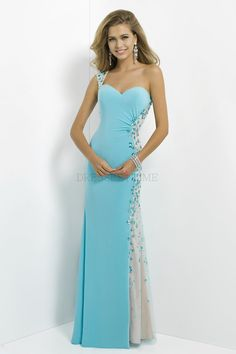 4ff193d91b8 Buy Glamorous One-Shoulder Dropped Waist Crystal Floor-Length Satin Prom  Dresses PD-