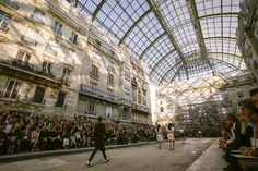 Chanel Spring 2015 Ready-to-Wear Collection - Vogue Chanel Spring, Train Station, Spring 2015, Ready To Wear, Fashion Show, Vogue, Street View, France, Paris
