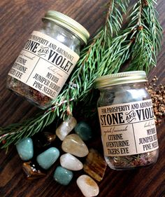 Prosperity in a Jar by stoneandviolet on Etsy, $15.00