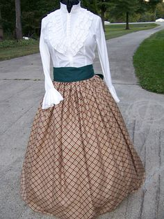 Civil War Reenacting Skirt Dickens costume Long by civilwarlady
