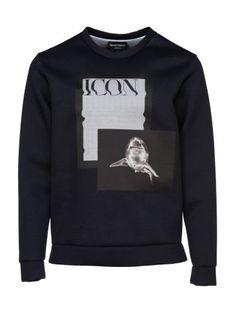 EMPORIO ARMANI Emporio Armani Photo Print Sweatshirt. #emporioarmani #cloth #fleeces-tracksuits
