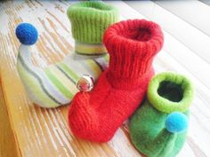 I had fun making these! So cute! Child Elf Slippers from jmhowell | Check out patterns on Craftsy!