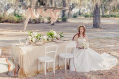 This styled shoot featuring vintage style furniture and edited in a soft vintage feel. Dresses by Justin Alexander, with simple florals and a floral halo. The shoot was in Savannah, Ga. sbridal.us/1uuIZLC