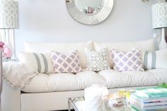 Pastel #PatternPlay , so soft and pretty! // Ana Antunes Home Styling Blog - #PreppyDecor #Pastels