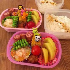 保育園のお弁当の日  2歳と6歳