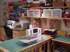 4 Things You Should Do When Setting Up Your Sewing Room. #Sewing #Room #Organization