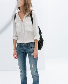 zara loose fit shirt.