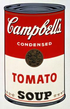 Autor: Andy Warhol. Titulo: Lata de sopa Campbell. Año: 1962 (s. xx)