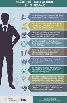"""Infografía """"Señales de mala actitud en el trabajo"""""""