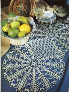 Smaller oval tablecloth of two parts