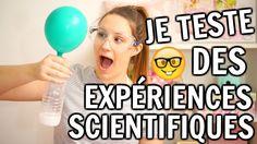 JE TESTE DES EXPÉRIENCES SCIENTIFIQUES!!! | Amélie Barbeau - YouTube Barbeau, Experience, Exercise, Gym, Four, Deco, Science Experiments, Bricolage, Kid