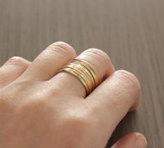 thin stacking rings #bedreamy