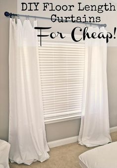 DIY Floor Length Curtains For Cheap. Using $10 tablecloths!