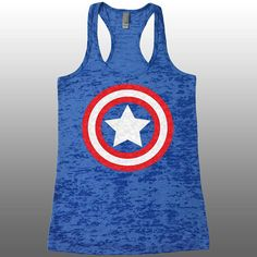 Captain America Tank Top. Burnout Tank. Funny Womens Workout Tanks. Ladies Avengers Running Captain America Shirt. Gym Tank Tops. Work Out.