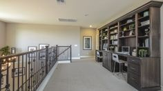 The upstairs in the Kingston at The Bridges at #Gilbert offers ample space for a #study and #library.