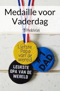 Medaille voor Vaderdag. Met gratis printable.