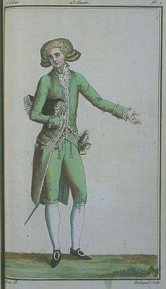 Magasin des Modes, August 1787. Serious kudos to the artist for being able to capture shot silk!