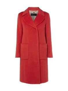 Mantel aus Alpakamischung Rot - 1