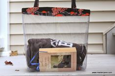DIY NFL Clear Tote Bag | Maiden Jane Large Bags, Small Bags, Cleveland Browns Game, Clear Tote Bags, Medium Sized Bags, Make A Gift, Casual Bags, Zipper Bags