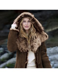 【Clearance Sale💥Shipped Within 24h】Hooded Toscana Coat - inkshe.com Boho Fashion, Winter Fashion, Long Hooded Coat, Winter Hats, Winter Jackets, Winter Mode, British Style, Covered Buttons, Clearance Sale