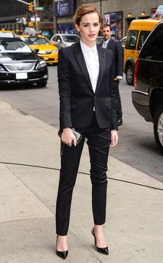 Emma Watson suits up and looks stunning!