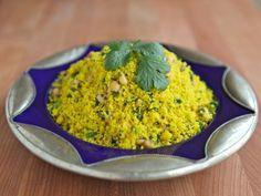Lemony Saffron Couscous - Healthy Side Dish