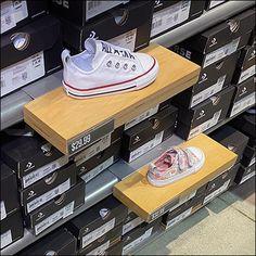 Retail Merchandising, Store Fixtures, Baby Sneakers, Baby Wearing, Overlays, Shelf, Wood, Baby Tennis Shoes